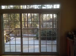 Three Panel Sliding Glass Patio Doors marvin interior view 3 panel sliding patio door with top transom