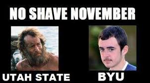 Beard Shaving Meme - usu memes can never unsee this happy no shave november facebook