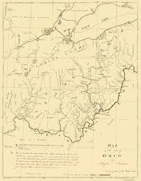 Ohio Rivers Map by Old State Map Ohio Putnam 1804