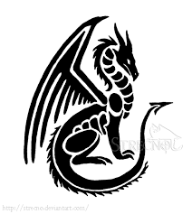 man with small simple tribal dragon tattoo design small simple