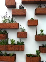 planters danish modern bent wood hanging planter boxes hanging