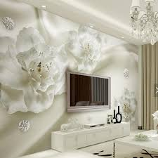 papier peint chambre 3d relief blanc fleur murale photo papier peint pour salon chambre