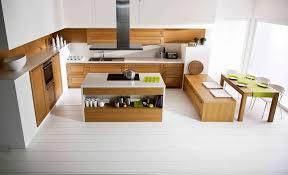 cuisine contemporaine blanche et bois cuisine blanche et bois clair incroyable cuisine blanche et bois