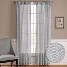 Chevron Pattern Curtains Nicetown One Pair Zig Zag Chevron Pattern Sheer Window Curtains