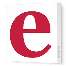 e lower case e canvas wall art numbers and letters avalisa