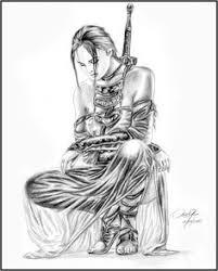 geisha warrior by dw miller by conceptsbymiller art