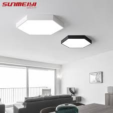 Ceiling Lights For Bedroom Modern Simple Geometric Led Ceiling L Kitchen Bedroom Modern Black