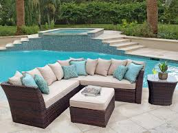 Resin Wicker Outdoor Patio Furniture by Curved Wicker Sectional Outdoor Furniture Home Designing