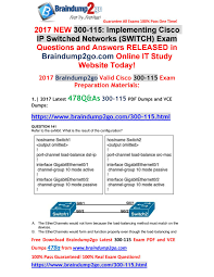 2017 novemberl version new braindump2go 300 115 pdf and vce dumps