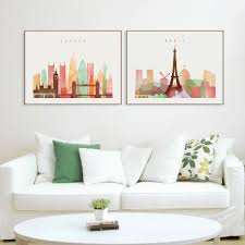 aliexpress com buy london paris new york paintings nordic