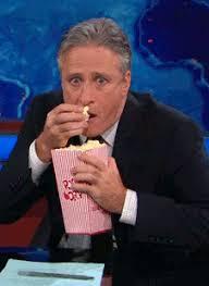 Pop Corn Meme - popcorn jon stewart reaction gifs