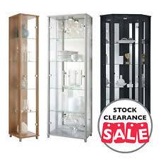 Oak Glazed Display Cabinet Glass Display Cabinet Ebay