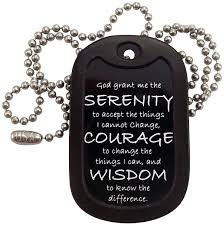 dog necklace tag images Military dog tags serenity prayer dog tag necklace jpg