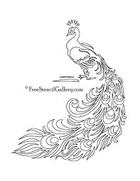 free printable peacock template free stencil gallery artsy