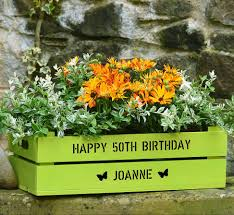 Window Sill Planter by Personalised Wooden Windowsill Planter Crate