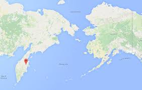 Alaska Google Maps by Ash From Russian Volcano Diverts Nightly Flight Into Nome