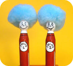 thing 1 and thing 2 clothespin craft super cute possibly