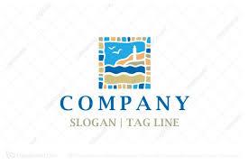 travel logos images Bottle sea logo jpg