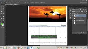 how to making an easy photo calendar in photoshop youtube