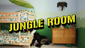 jungle themed home decor large animal wall stickers african themed bedroom ideas rainforest