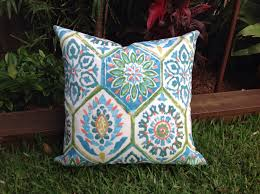 Blue Outdoor Cushions Outdoor Cushions Blue And Green Outdoor Cushion Cover Moroccan