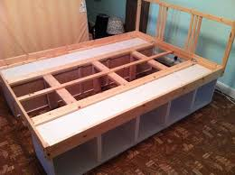 Platform Bed With Shelves Plans by Fabulous Bed With Drawers Underneath Plans And Build A Platform