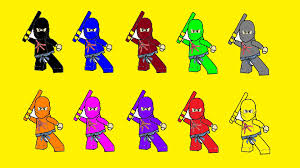 learn colors for kids with lego ninjago coloring pages part 9