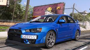 used mitsubishi evo mitsubishi lancer evolution x fq 400 gta5 mods com