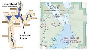 lake mead map st nevada lake mead national recreation area u s