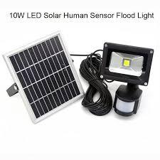 solar powered sensor security light promotion 10w solar powered led flood light with pir motion sensor