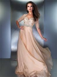 buy tailor made chiffon floor length sequin middle sleeves prom