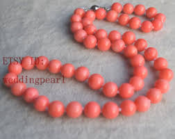 beaded coral necklace images Coral necklace etsy jpg
