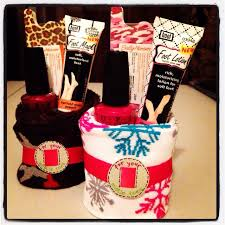 gift idea roll up a pair of socks and add nail