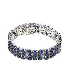 diamond bracelet with sapphire images 14k white gold 33 3ctw sapphire and diamond bracelet 8463516 hsn jpg