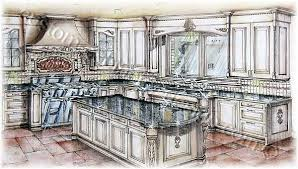 cabinetry 3d rendering kitchen design perspective drawings