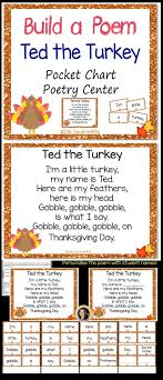 build a poem ted the turkey thanksgiving poems building