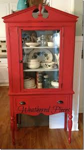 Vintage China Cabinets Fireworks Red Cabinet Power Of Paint