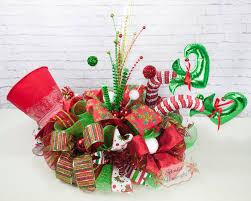 top hat elf centerpiece christmas centerpiece elf centerpiece