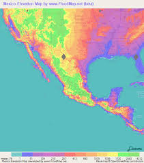 map of mexico cities mexico elevation and elevation maps of cities topographic map contour
