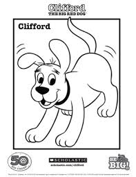 clifford coloring sheet parents scholastic