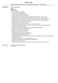 Event Coordinator Resume Template by Event Planner Resume Sample Velvet Jobs
