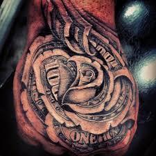 25 enestående idéer inden for money rose tattoo på pinterest