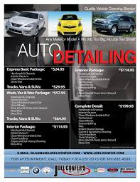 car detail flyer template free google search auto detail