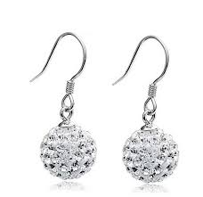purple drop earrings 2017 big earrings for women shamballa wedding jewelry
