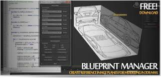 create blueprints blueprint manager create reference image planes for modeling in
