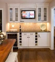tv in kitchen ideas perfect spot for the tv kitchens pinterest basements bar and