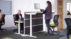 Sit Stand Office Desk Convertible Sit Stand Desk Electric Desk Lift Elevated Desk Stand