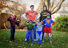 family superhero halloween costumes the burdorf family funzone a superhero halloween