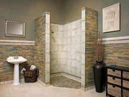 rustic bathroom remodel ideas with yellow motif granite element