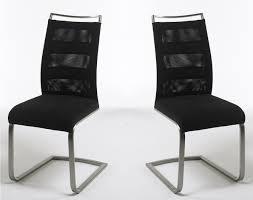 schwingstühle esszimmer 2er set schwinger esszimmer stühle schwarz edelstahl gebürstet